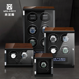 Image 1 - New Wood Watch Winder For Watches Black Piano Paint Automatic Self Watch Winders Wooden And PU Leather Watch Accessories