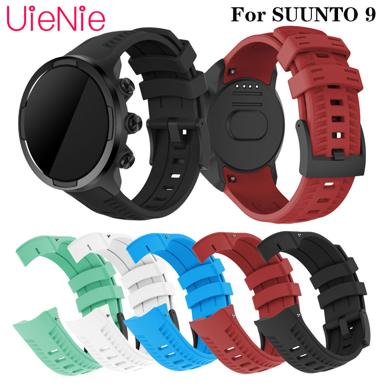 Silicone Wristband Strap For SUUNTO 9 Frontier/classic Watch Band For SUUNTO 9 Bracelet Replacement Wrist Strap Accessories