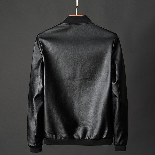 New Men's leather Jacket, large size