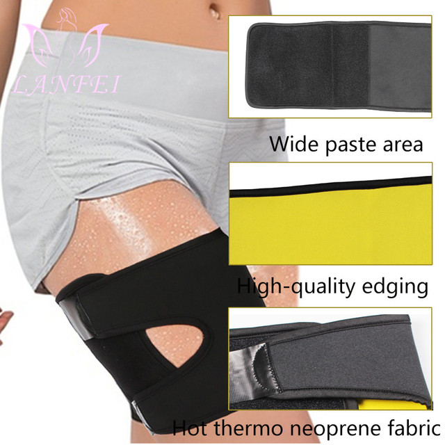 LANFEI Sauna Sweat Thigh Trimmer belt Women Neoprene Compress gym workout Leg Shapers Slimming corset Weigh Loss Modeling Strap 4
