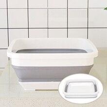 Seau pliable pour lavage de voiture, bassin de pêche, pour Camping, pour légumes et fruits, fournitures de nettoyage de la maison