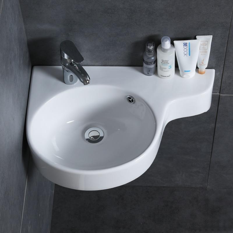 bathroom corner wash hand basins hanging basin sink small mini apartment wall mounted ceramic triangle washbasin mx9091611