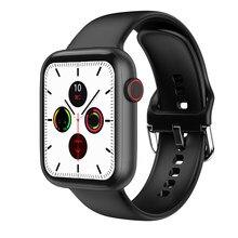 Iwo w46 relógio inteligente 1.75 polegada freqüência cardíaca sem fio carregador iwo w26 pro smartwatch w46 relógios inteligentes para mulher/homem para android ios