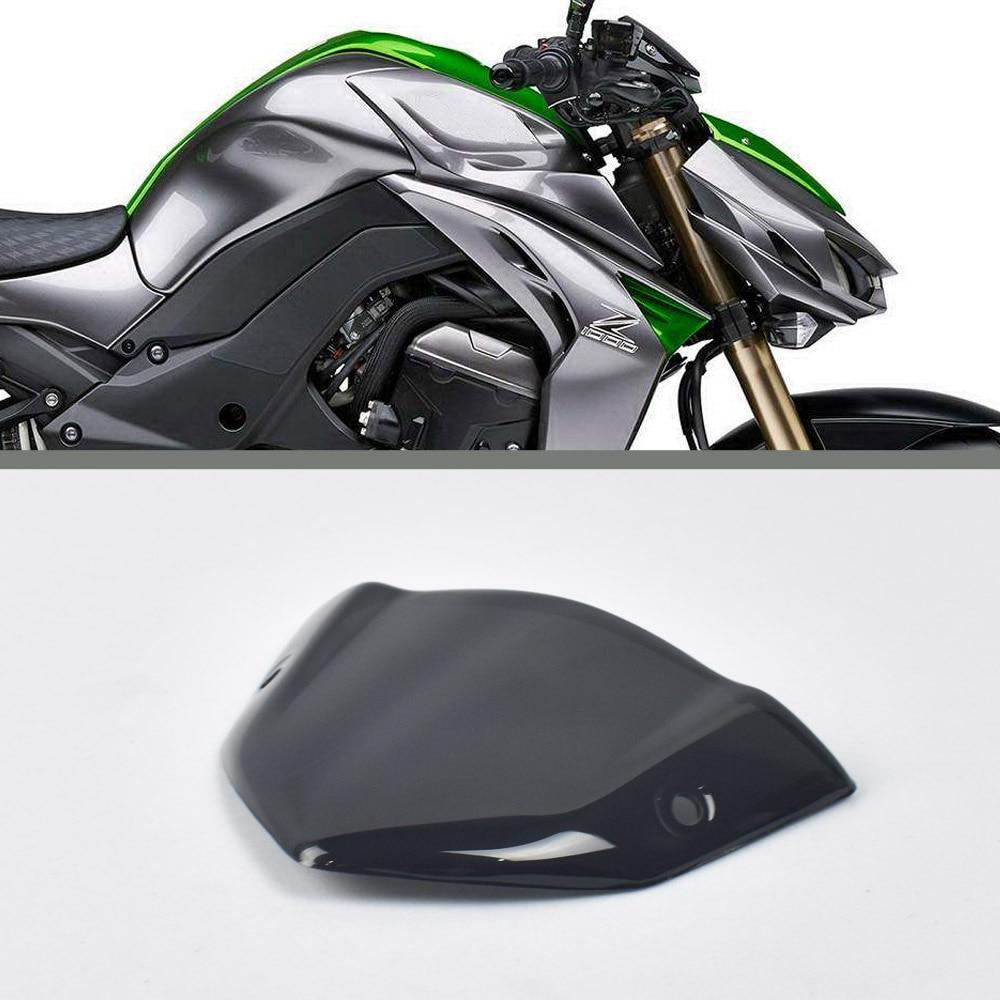 Motorcycle front windshield sun visor glass for Kawasaki Z1000 2014 2015 2016 2017