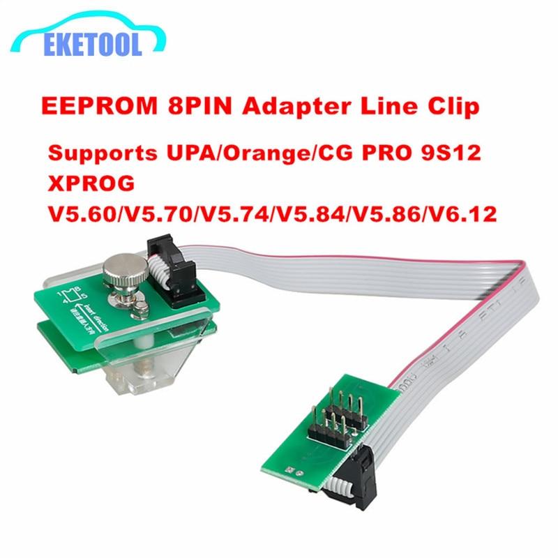 8Pin Adapter Soic 8 Sop8 Anti-theft Data Reading EEPROM Clip Works IProg/Orange/XPROG/CG PRO/VVDI Prog/UPA V1.3 For BMW