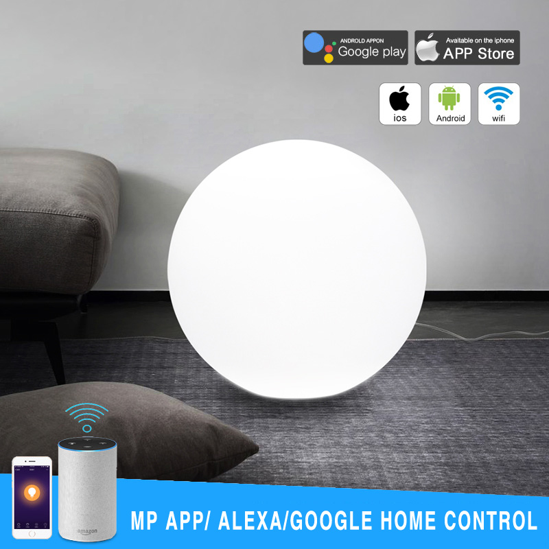 Dia50CM Wifi Smart RGB LED Ball Light Mobile Phone APP Control Sphere Lamp Home Party Night Lights Works With Google Home Alexa