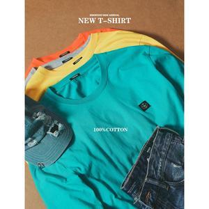 Image 2 - SIMWOOD 2020 bahar yeni uzun kollu t shirt erkekler rahat temel % 100% pamuk tshirt logo rahat üst artı boyutu t shirt SI980594