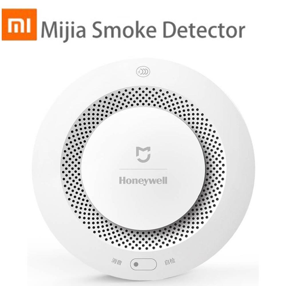 Датчик дыма Xiaomi Mijia Honeywell, умный дом с дистанционным управлением, сигнализация с приложением Mi Home|Детектор дыма| | АлиЭкспресс