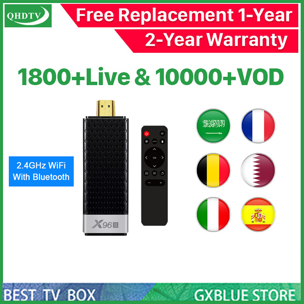 X96S Android 8.1 Amlogic <font><b>S905Y2</b></font> IPTV BOX QHDTV 1800 Channel 10000 VOD France Arabic USA Dutch 1Year IPTV Subscription TV Box image