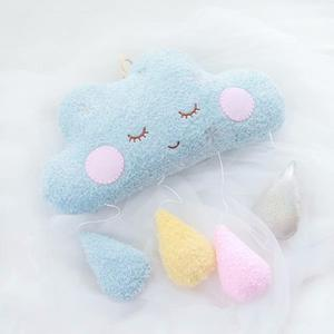 Image 2 - Hangable Seaweed pillow moon cloud pillow plush toys stuffed cushion girl Room decoration Xmas Gifts toys for children