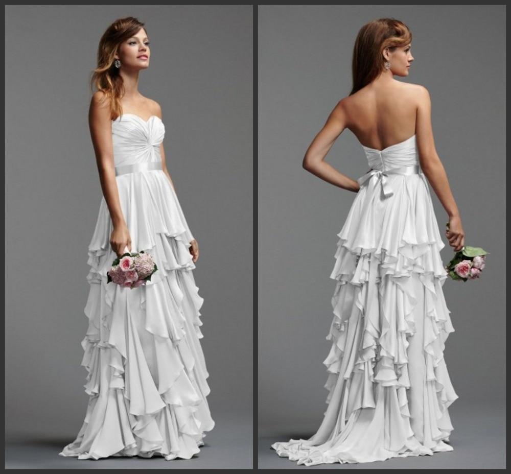 2016 Free Shipping Women Custom-made Sweetheart Belt Vestido De Festa Casamento New Style Tiered Long Party Bridesmaid Dresses
