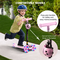 Child Scooter 3 Wheels Folding Foot Scooters LED Shine Balance Bike Adjustable Height Skateboard Kick Scooter For Kids Sport Toy 1