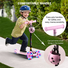 Child Scooter 3 Wheels Folding Foot Scooters LED Shine Balance Bike Adjustable Height Skateboard Kick Scooter For Kids Sport Toy