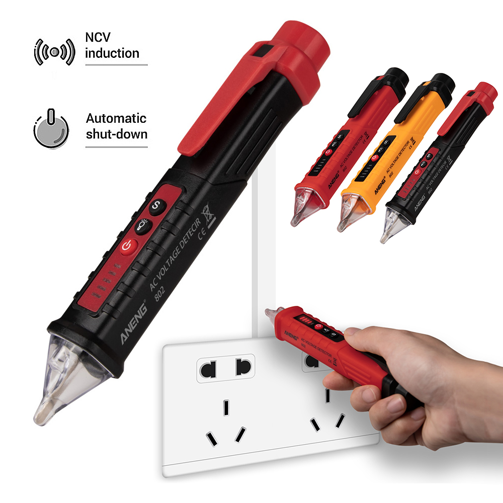 2019 New Digital 12-1000V AC Non-Contact Voltage Tester Pen Meter Tester Meter Electric Current Volt Pencil Test
