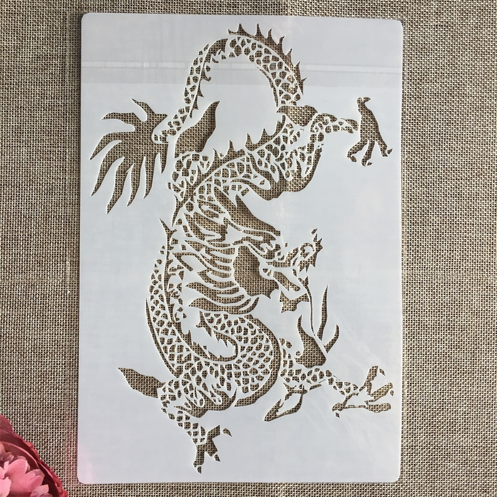 26*18cm Chinese Dragon DIY Layering Stencils Painting Scrapbook Coloring Embossing Album Decorative Template