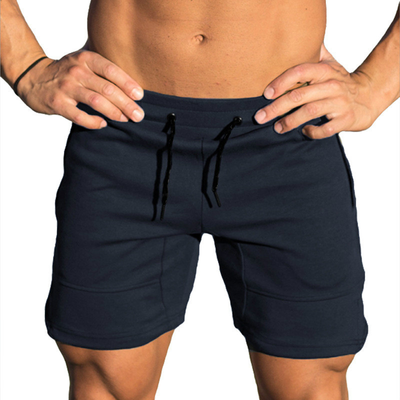 Men Shorts Cotton Casual Solid Shorts Men Gym Fitness Jogger Beach Short Pants Spliced Hot