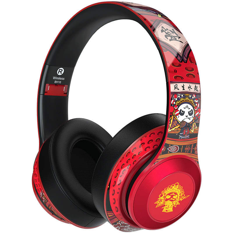 2020 new BH10 Panda Edition wireless Bluetooth headset with microphone music game Chinese style headset gift preference