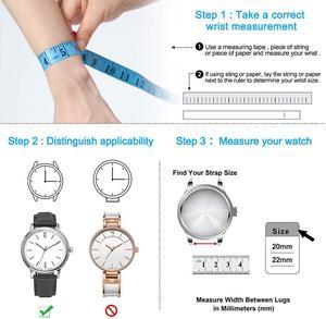 Image 4 - 20mm 20mm קרמי watchbandעבור Samsung S2 S2רצועת החזרהעבור לצפות Huawei 2שעון גלקסי 42/46פרפר אבזם רצועה