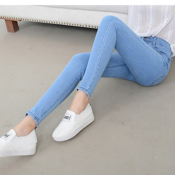 Denim Jeans Womens High Waist Stretch Pencil Skinny Ankle-length Pants Femme Black Blue Push Up 2019 Elastic Slim Streetwear0001 2