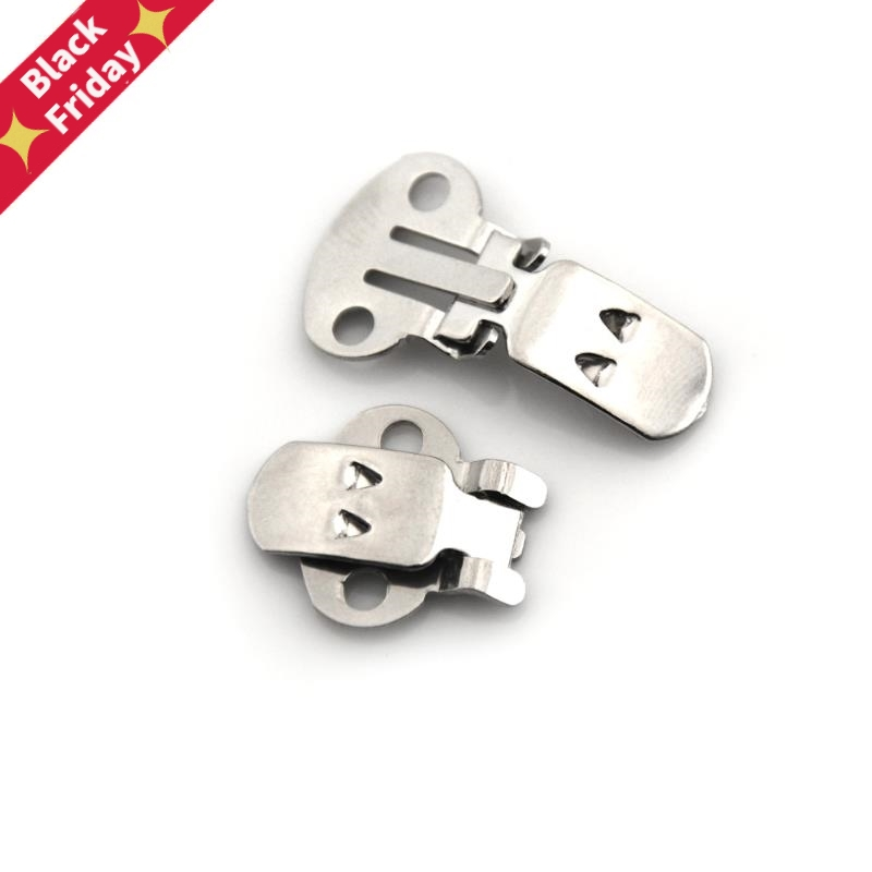 10/20Pcs/lot Silver Color Blank Stainless Steel Flower Shoes Clips Ornament On Findings DIY Craft Buckles For Shoes Accessories
