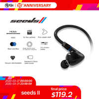 HiBy Seeds II High Performance HIFI Stereo Earbuds earphone In-Ear Monitors single dynamic driver Hi-Res HDSS