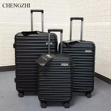 """CHENGZHI 20""""24""""28"""" inch men business ABS rolling luggage set trolley travel suitcase spinner on wheels"""