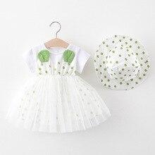 Girls Dress Summer Cute Polka Dot Mesh Princess Dresses for Girl Kids Dress With Hat Outfits Birthday Dress cute kids satchel with polka dot and cartoon shape design