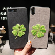 2019NEW Luxury cloth phone case For iphone 7 8 6 6s Plus Ultra  Soft Silicone Cover X XS Max XR embroidery technology