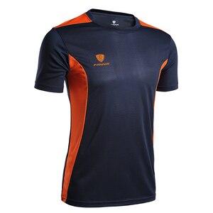 FANNAI Men's Sport Running T Shirt Quick Drying Short Sleeve Basketball Soccer Training Fitness CrossFit Gym Boy Top Tee(China)