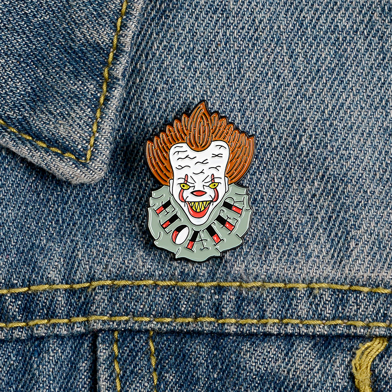 Anime Pins Joker Enamel Pin Brooches Shirt Lapel Bag Badge Halloween Steampunk Movie Cosplay Costume Jewelry Man Christmas Gifts image