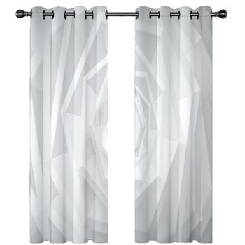 3D Blackout Curtain European Photo Curtains For Living Room Bedroom abstract space Modern Kitchen Curtain Drapes