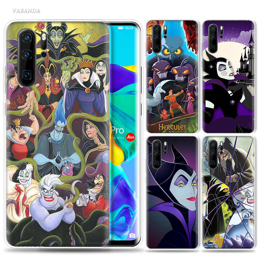 Cartoon Villains Case for Huawei P20 P30 P Smart Z Plus 2019 P10 P9 P8 Mate 30 10 20 Lite Pro Silicone Sac Phone Coque Cover Cas