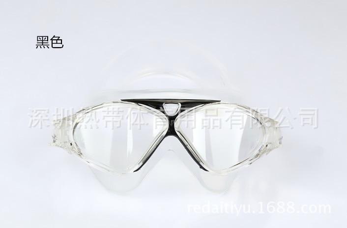 Liquid Silicone Swimming Goggles Plain Glass Goggles Big Box Diving Mask Waterproof Anti-fog Swimming Goggles Swimming Glasses