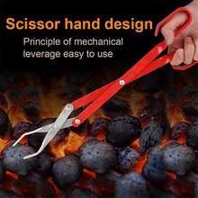 Pinças de carvão para churrasco braçadeira de carbono bq ferramentas de alumínio alicates grelhado clipe de alimentos portátil pinças churrasco accessorie