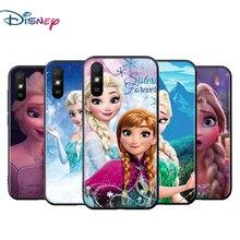 Bevroren Elsa Voor Xiaomi Redmi 9T 9I 9AT 9A 9C 9 8A 8 7A 7 6A 6 5A 5 4X Pro Prime Plus Zwart Soft Phone Case