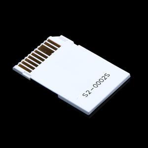 Image 2 - Podwójne gniazdo Micro do SD SDHC TF do pendrive MS Card Pro Duo czytnik dostosuj zestaw kart dwie karty białe do karty PSP białe