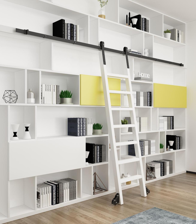No Ladder Diyhd Rustic Black Sliding Library Ladder Hardware