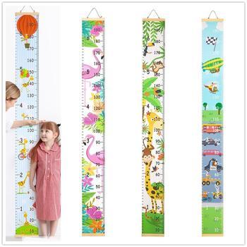 Regla de altura de madera para niños patrón de dibujos animados para colgar en la pared regla de medición de altura para niños tabla de crecimiento Adhesivo de pared de casa
