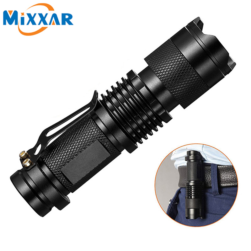 ZK20 New Mini LED Flashlight Q5 Torch AA/14500 Adjustable Waterproof Zoom Focus Torch Lamp Penlight dropshipping