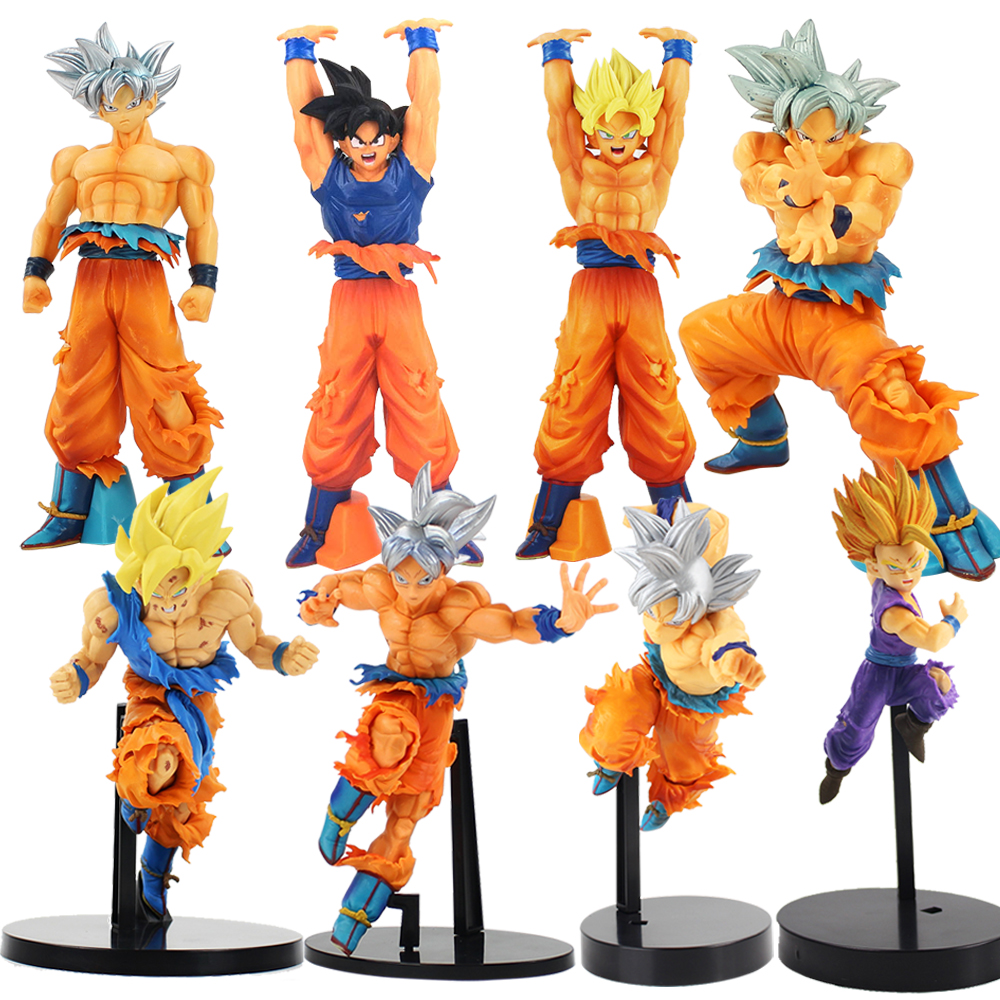 DXF Dragon Ball Z Super Sayian Son Goku Ultra Instinct Goku Migatte No Gokui Dragonball Silver Gokou PVC Action Figures Toy