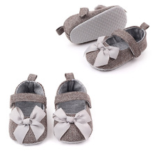 Bowknot Baby Girl Spring Shoes Cute Breathable Prewalker Toddler Soft Sole Shoe Slip-on Cotton Fabric Baby First Walker Shoe