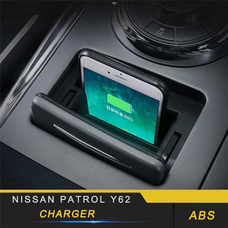 Для Nissan Patrol Y62 автомобильный Стайлинг Беспроводное зарядное устройство автоматическое зажимное устройство Быстрая зарядка держатель для т...
