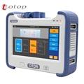 TMO350 OTDR 1310/1550/1625nm/38/35/36dB con VFL/OPM/OLS 10mW pantalla táctil OTDR óptico de dominio de tiempo reflectómetro
