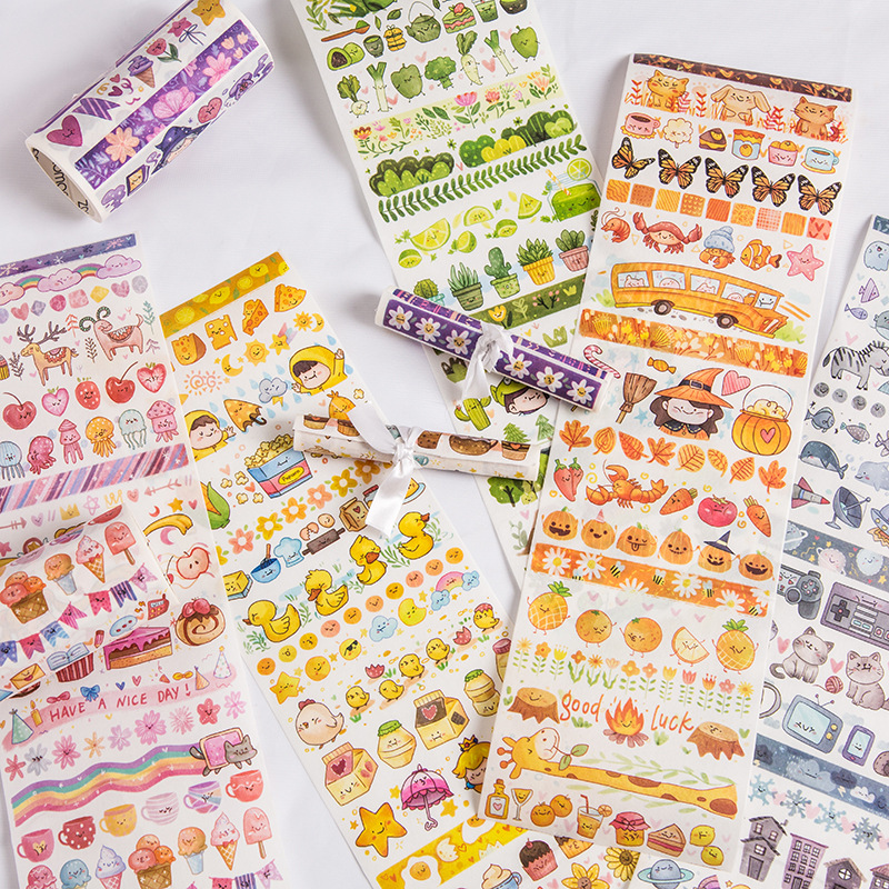 10cm Wide Fat Animal Planet Series Journal Washi Tape Decorative Adhesive Tape DIY Scrapbooking Sticker Label Stationery
