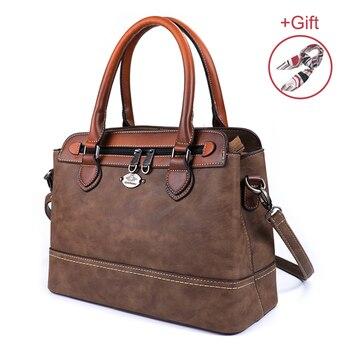 Винтажные женские сумки из натуральной кожи, роскошные женские сумки на плечо, вместительные Женские повседневные сумки-тоут, деловые сумк...