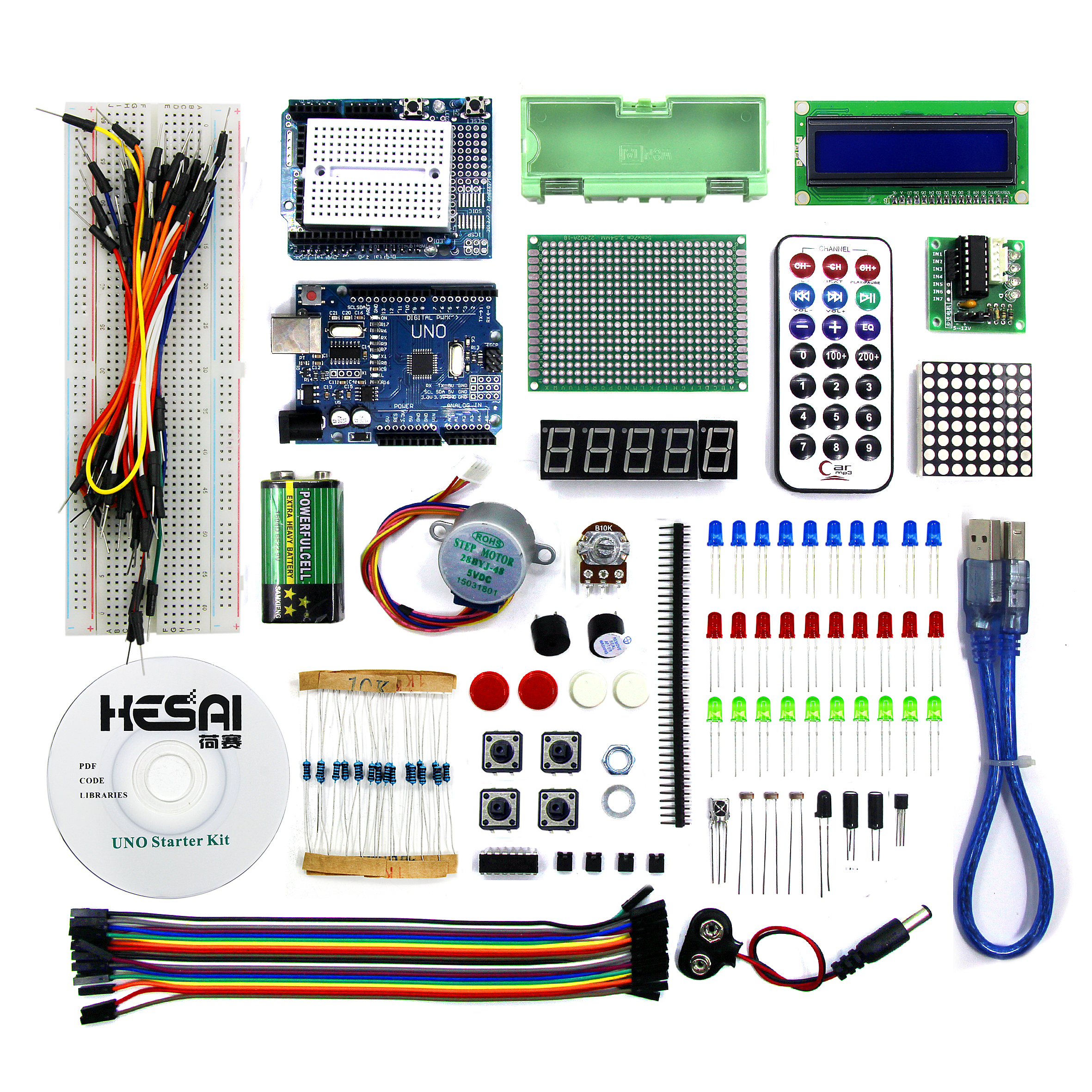 Smart Electronics Uno R3 Basic Starter Learning Kit Upgrade Version For Arduino Diy Kit Uno R3 Electronic Kitkit Electronic Aliexpress