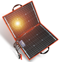 18V 80W Monocrystalline Folding Solar Kit With Controller Charge 12V For Home / Camping / RV Photovoltaic Solar Panel China