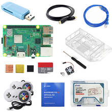 Raspberry Pi 3B+ Gamepad Kit with USB Controller 2pcs and Acrylic case heat sink 1.5m HDMI cable network