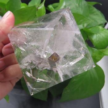 515g 82*82*62mm  Natural Rock Clear Quartz Crystal Pyramid Handmade Energy Pyramid Reiki Healing