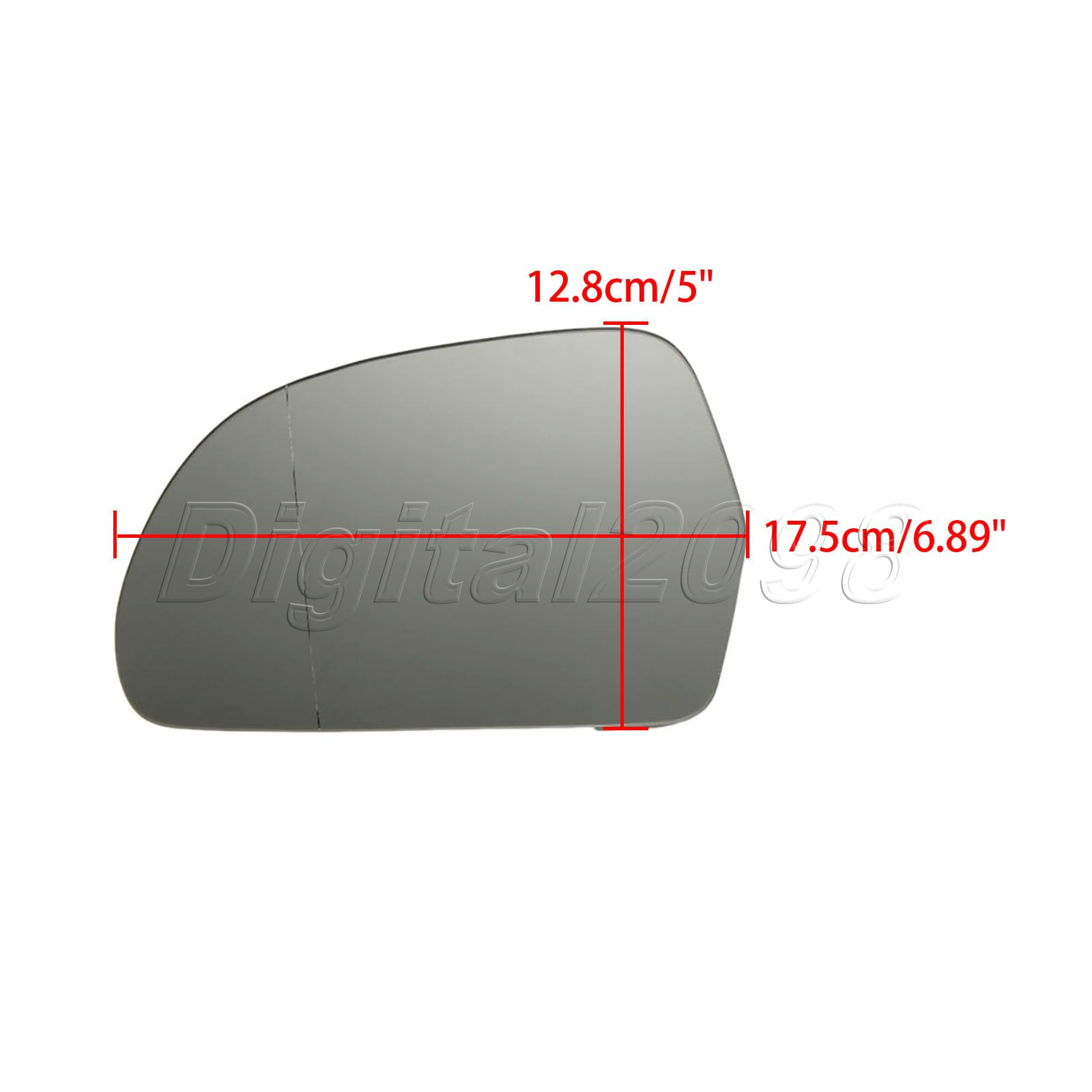 Right hand driver side for Audi A5 2009-2011 Wide Angle wing mirror glass